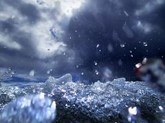 Diving under (tigrić) Tags: blue sea sky beach water drops wave bubbles diving fresh h2o