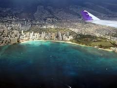 Waikiki aerial 1 (kenjet) Tags: ocean city blue water inflight view waikiki oahu aerialview aerial pacificocean hawaiian honolulu waikikibeach hawaiianairlines
