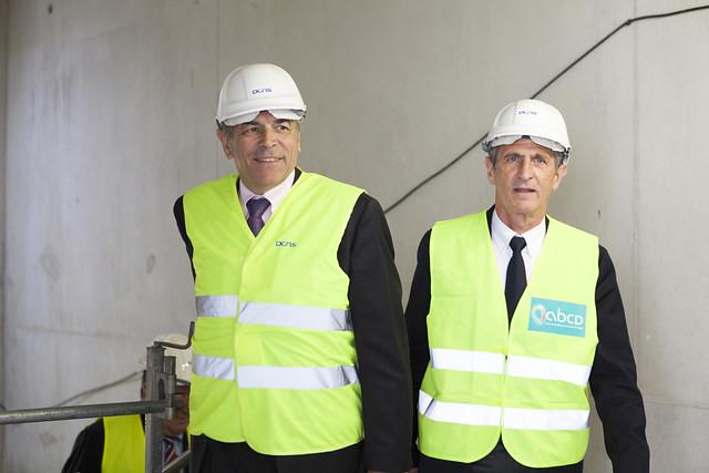 Visite du chantier DCNS / Technopôle de la Mer à Ollioules