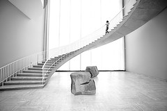 Stairway (Alan Amati) Tags: light chicago art museum stairs spiral illinois stairway il staircase highkey winding curve topf150 artinstitute decending amati alanamati