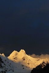 Jirishanca at sunset, Cordillera Huayhuash.