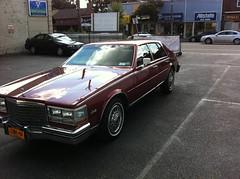 1984 Cadillac Seville (smokuspollutus) Tags: red exterior interior seville cadillac 1984 cloth