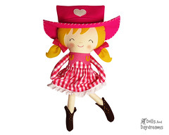 cowgirl Sally Sue sewing pattern ranch barn dancer cute adorable diy handmade copy (Dolls And Daydreams) Tags: diy cowboy doll country cowgirl wildwest tutorial westen sewingpattern pdfsewingpattern