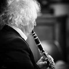 Clarinet player (PortSite) Tags: bw music white man black holland art netherlands nikon zwartwit nederland muziek classical portret zwart wit zw 2014  klarinet portsite klassieke d3s