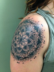 Custom Mandala by Wes Fortier - Burning Hearts Tattoo Co. 1430 Meriden Rd.  Waterbury, CT