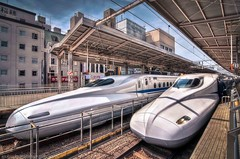 The fastest trains in the East (nickjacksonphotography) Tags: city night tokyo amazing kyoto shrine asia day fuji buddhist buddhism east geisha nara incredible hdr