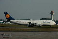 Lufthansa - D-ABYJ - 'Hannover' (Pål Leiren) Tags: fra eddf frankfurt frankfurtammain airplanes planes airport 2014 germany hessen plane planespotting aviation aircraft 747830 boeing 748 hannover b748