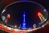 Shanghai - The Circle (cnmark) Tags: china shanghai pearl orient pearloftheorient tv tower building night bright colored coloured light nacht nachtaufnahme noche nuit notte noite roundabout circle 东方明珠 东方明珠电视塔 ©allrightsreserved traffic trails busy longexposure langzeitbelichtung