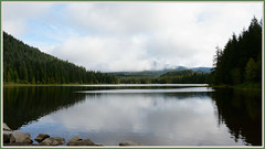 [[[ Clouds Over Trillium Lake ]]] (Wolverine09J ~ 1 Million + Views) Tags: oregonsummer16 trilliumlake mthoodnationalforest scenic placid morning rocks clouds nature shoreline batslair evergreens