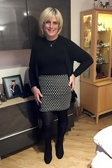 Ready for my night out to the monthly Lyndhurst Transgender Friends Group meeting. (joanne.lockwood1965) Tags: england unitedkingdom gb indoors heels skirt blond blonde cd convincing crossdress crossdresser crossdressing enfemme feminisation feminization gurl happy legs lgbt m2f makeup me mtf passable pose selfie shemale smile tcute tgirl tgurl tights tilf tranny trans transcute transformation transgender transgendered travesti transgirl transvestite transwoman ts tv wig xdress xdresser face portrait black bodycon