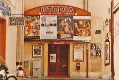 Utopia Cinema Avignon (Meredith Jacobson Marciano) Tags: utopiacinemafrance avignon france utopia cinema cinemautopia movies posters patisserie boulangerie schlock