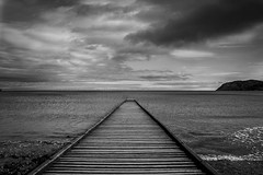 Llandudno (MeganCeriDabbs) Tags: llandudno black white landscape rule thirds waves water sea ocean pier leading lines storm contrast weather wales britain north