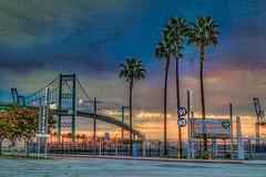 Bridge at Dawn (Michael F. Nyiri) Tags: sanpedroca southerncalifornia california vincentthomasbridge harbor losangelesharbor sunrise morning clouds