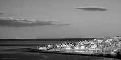 Hull from Fort Revere (alohadave) Tags: atlanticocean blackwhite bostonharbor clearsky effects fortrevere harbor hoyar72 hull infrared massachusetts northamerica ocean pentaxk5 places plymouthcounty sky stonybeach sunset unitedstates water wispyclouds smcpda1855mmf3556al