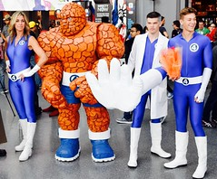 DSC_0174 (Randsom) Tags: nycc 2016 newyorkcomiccon nycomiccon javitscenter october nyc newyorkcity cosplay costume fun comicbooks comicconvention marvelcomics fantasticfour mister mr fantastic humantorch invisiblewoman thing team group groupshot blue spandex boots bengrimm