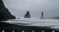 5604 A Reynisdrangar (carlostorrebenito) Tags: acantilados agua grava h nubes oleaje playa cliffs water gravel clouds swell beach islandia 352