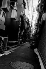 (light metal(s)) (Dinasty_Oomae) Tags: minolta  minoltina  minoltinas s   tokyo  taitoku  yanaka   monochrome outdoor street bw blackwhite blackandwhite  alley