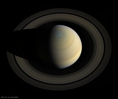 Flying over Saturn (Val Klavans) Tags: saturn planet cassini mission imaging science subsystem iss ssi nasa jpl rings hexagon solar system planetary atmosphere astronomy space spacecraft outer ring shadows val valerie klavans cloud layers clouds north polar region pole bands october 10 2013 11