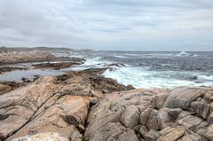 Rocks, Surf and Clouds (Non Paratus) Tags: novascotia peggyscove chebuctopeninsula atlanticcanada atlanticocean rocks surf waves seascape sea landscape clouds sky