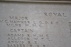 Major Lanoe George Hawker VC, DSO - listed on the Royal Flying Corps Memorial. Arras. (greentool2002) Tags: arras memorial royal flying corps major lanoe george hawker vc dso rfc
