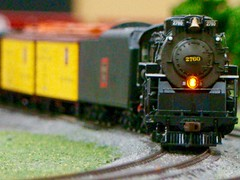 Southland model train show. (Chicago Rail Head) Tags: modeltrains modeltrainshow localmodeltrainclubs differentscales steamlocomotives diesels nhoso27ggauge oaklawnill co cbq 284 berkshire