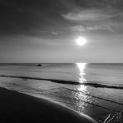 (gabriele quintigliani) Tags: canon nero tramonto torvajanica barca mare pescatori 700d bianco black white sunset sea