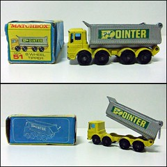 8 WHEEL TIPPER N 51 - MATCHBOX (RMJ68) Tags: 8 eight wheel tipper dump truck pointer aec mammoth major ergomatic cab matchbox diecast coches cars camion juguete toy 192