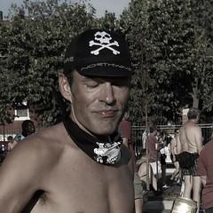 skull & crossbones cap (MBK (Marjie)) Tags: stlouis mo missouri southside hartfordstreet grandsouthgrand 2012 28july stl southgrandparkinglot wnbr skull