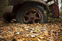 Tired Out (cjb_photography) Tags: junkyard mcleansautowreckers miltonon rust tire truck