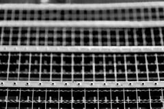 looking downstairs (ToDoe) Tags: downstairs stairs steps stufen treppe bw schwarzweis again sructure patterns tritt metall eisen verzinkt treppab waagrecht dof bokeh schwindelig schwindlig dizzy giddy