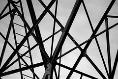 Untitled (M N Edwards) Tags: abstract aberystwyth nikon d3000 lines metal blackandwhitephotography monochrome electricity