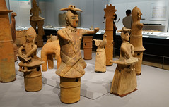 Haniwa with polychromy