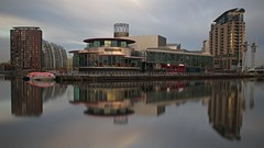 Salford reflections (neals pics) Tags: city buildings architecture water reflections longexposure theatre salfordquays salford