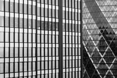 Lines of London (The Green Album) Tags: lines monochrome fuji xt1 london skyline glass windows abstract gherkin diagonals contrast uniform work architecture modern contemporary urban