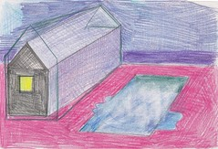 house with pool (JENS01) Tags: haus house painting farbe color sketch sketching draw drawing drew colored beach strand landscape landschaft