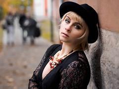 PA300687 (marcel_reimann) Tags: bamberg bayern deutschland de model shooting portrait olympus epl7 lightroom light oppeltwalk scarf personen portrt blond blondhair hat necklace