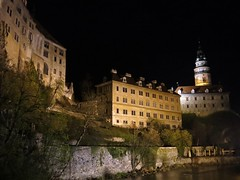 Krumlov night view (linwujin) Tags: europe euro czech krumlov unesco night castle