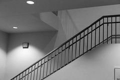 We are all in much softer focus than we realize. (eL Bz) Tags: staircase bannister railing