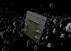 The Door to the Past (Karf Oohlu) Tags: lego moc space door horror asteroidbelt frog seal
