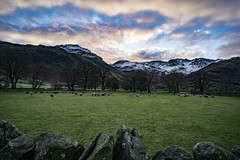 Waiting for night to fall across the fells. (philmitch771) Tags: mountain sunset snow lake district uk national park