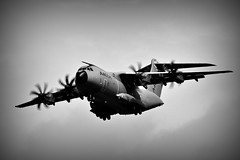 Heavy Transport (Steve.T.) Tags: blackandwhite mono bnw a400m airbus riat16 raffairford propblur nikon d7200 sigma70300 militaryaviation aviation aviationphotography gloucestershire flying aircraft airplane aeroplane militarytransport takingoff