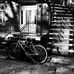 C'était le printemps à Montréal... il y a quelques mois... (woltarise) Tags: montréal bicyclette printemps logement rue montroyal plateau
