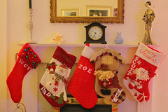 3rd December 2016 (lucyphotography) Tags: stocking stockings hanging up names named family mantle piece fire living room