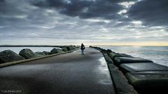 endless road (soundmoods) Tags: breakwater pier endless netherlands ijmuiden seaclouds road
