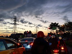 (ChanXe) Tags:        taiwan taichung moment evening night light iphone iphone5s explore adventure view scenery landscape sunset sky urban road way