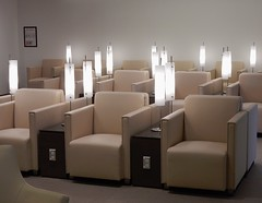 Candle Lights (mikecogh) Tags: sydney airport lunge skyteam empty comfortable lounge lights tubular armchairs