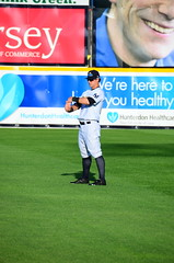 Tyler Austin in the Outfield Before the Game (slgckgc) Tags: austin waterfrontpark trentonthunder tyleraustin