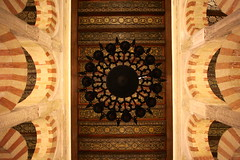 Between The Arches (MykReeve) Tags: roof spain arch arches andalucia ceiling chandelier cordoba mezquita andalusia