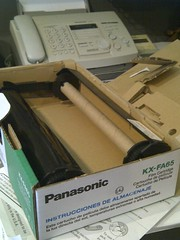 Fax Machine and Replacement Fax Roll (artistmac) Tags: city urban chicago illinois box machine il panasonic fax cartridge faxroll