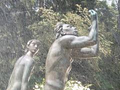 Cranbrook Academy of Art: Two Figures, Orpheus Fountain (pinehurst19475) Tags: sculpture water fountain bronze michigan beethoven spray cranbrook milles bloomfieldhills cranbrookacademyofart carlmilles femalefigure ststue nationalhistoriclandmark nationalregister nationalregisterofhistoricplaces malefigure nrhp cranbrookeducationalcommunity orpheusfountain nrhpdistrict73000954